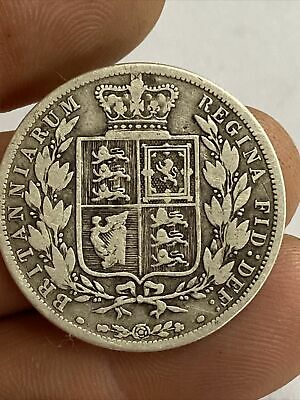 £12.50 • Buy 1887 Young Head Queen Victoria Silver Half Crown Coin Uk Post Free