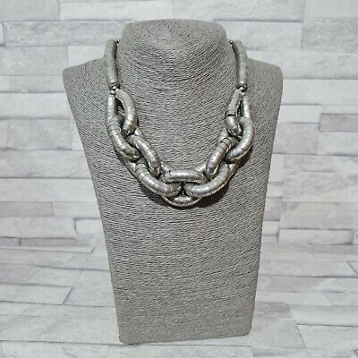 £8.50 • Buy STATEMENT Necklace Chunky Beady Snake Chain/Link Costume Jewellery Brutalist