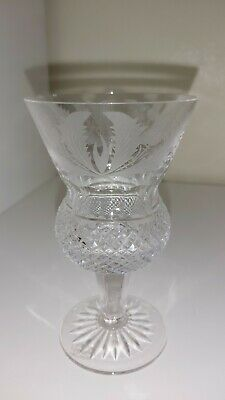 £19.99 • Buy An Edinburgh Crystal Cut And Etched Thistle Glass 5 1/4  SMALL CHIP