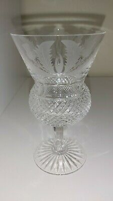 £19.99 • Buy Edinburgh Crystal Cut And Etched Thistle Glass 5 1/8  SMALL CHIP