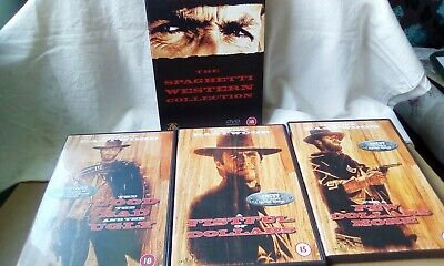£6.99 • Buy Clint Eastwood The Spaghetti Western Collection (DVD, 2000, 3-Disc Set, Box Set)