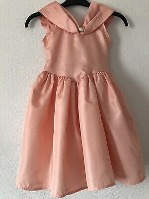 £6.99 • Buy British Home Stores (BHS) Girls Peach Party Bridesmaid Dress Age 5