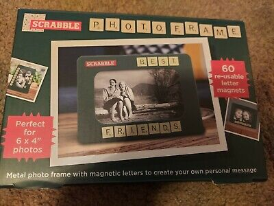 £5.99 • Buy Scrabble Magnetic 6  X 4  Photo Picture Frame 60 X Personalise Reusable Letters