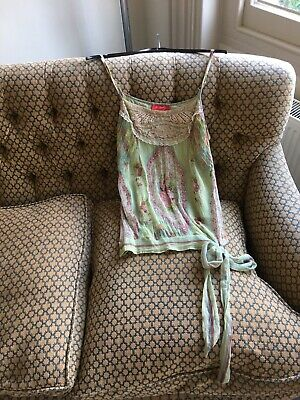 £12 • Buy Derhy Cotton Camisole Blouse Size Small