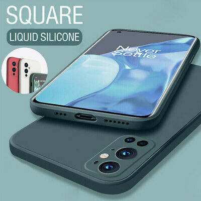 AU4.91 • Buy For OnePlus 9 8T 8 7T 7 Pro 6T Square Liquid Silicone Skin Soft TPU Case Cover