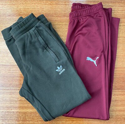 AU29.50 • Buy Mens Small Track Pants Bundle - Puma And Adidas - Suit Young Teen