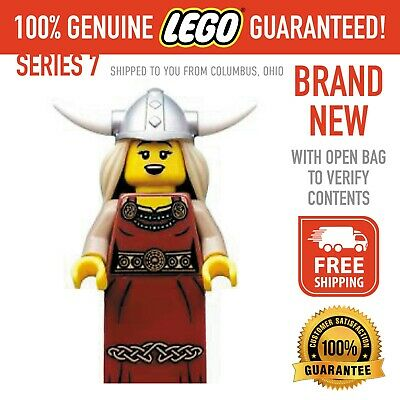 £10.19 • Buy Lego Minifigures Series 7 Viking Woman - Brand New With Open Bag - FREE SHIPPING