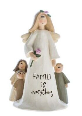 £9.99 • Buy Beautiful Angel Ornament 'Family Is Everything' Text Sentimental Gift 10cm