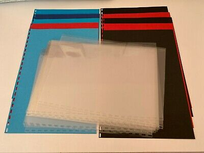 £7.50 • Buy A4 Comb Binder Covers - Pre-Punched - 24 Clear Covers & 10 Card Covers