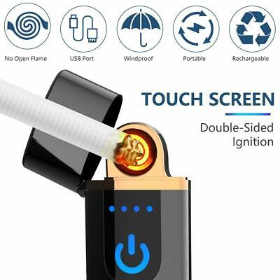 £5.99 • Buy USB Rechargeable Electric Touch Sensor Metal Cigarette Lighter Charging Lighters