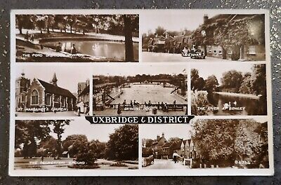 £4 • Buy Uxbridge Places Of Interest - Historical B&W Postcard By Valentine & Sons