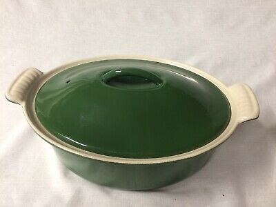£20 • Buy Le Creuset Cast Iron 22cm Oval Green Casserole Dish With Lid #S1225