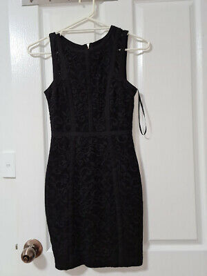 AU10 • Buy Forever New Black Lace-look Dress Size 6