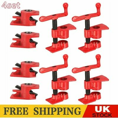 £21.99 • Buy 2/4 Set PRO 3/4'' Wood Gluing Pipe Clamp Set Heavy Duty Woodworking Cast Iron