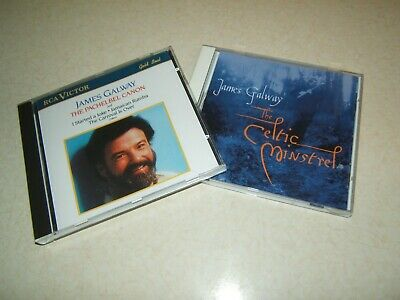 £4.99 • Buy JAMES GALWAY : THE CELTIC MINSTREL & THE PACHELBEL CANON   2 X CD ALBUMS