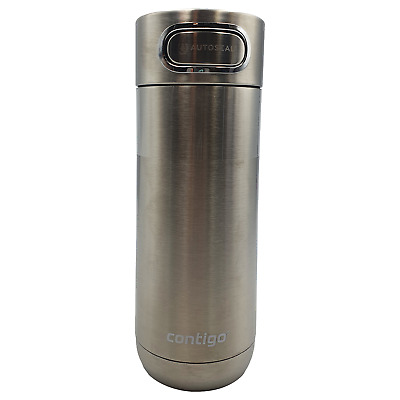 AU31.49 • Buy Contigo Luxe Autoseal Travel Mug 414ml Flask Stainless Steel Hot Cold Silver
