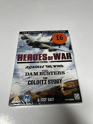 £9 • Buy Heroes Of War Vol 1 (Dambusters, The/Against The Wind/Colditz Story) [DVD]