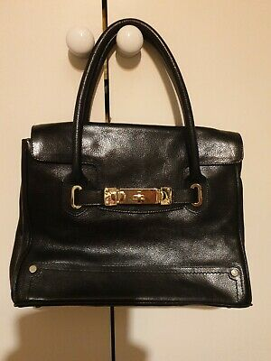 £10 • Buy M And S Autograph Black Leather Tote Bag