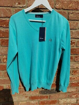 £35 • Buy FRED PERRY, Mens Size S,  Thin Knit V-Neck Jumper, BNWT