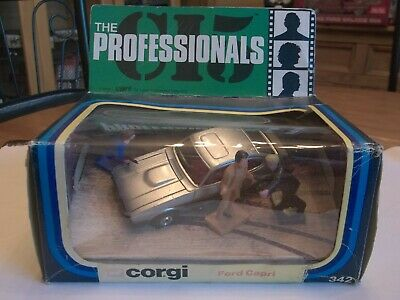 £199.99 • Buy Corgi 342 - The Professionals - Ford Capri - Mint In Box With Figures