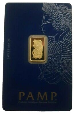 £155 • Buy 2.5g PAMP Fortuna Minted Gold Bar | Fast Delivery | Certificate | Veriscan