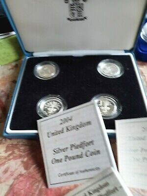 £100 • Buy UK 4 Coin Set 1984/5 And 2004/5 Piedfort Silver Proof Collection