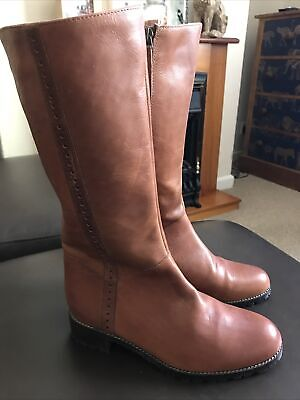£35 • Buy White Stuff Tan Leather Boots Size 4