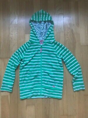 £8 • Buy Mini Boden - Zip Up Hoody - Green Striped -Age 5-6 Years