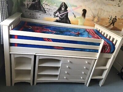 £300 • Buy Solid Wood Children's Mid Sleeper Single White Bed