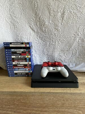 AU250 • Buy Sony PlayStation 4 PS4 Slim 500GB Console + 2 Controllers (red, White)+ 16 Games