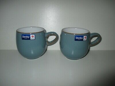 £31.50 • Buy Denby Pottery Azure 2 X Small Mugs New First Quality Excellent Condition