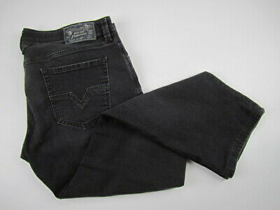 £46.65 • Buy Mens 38x30 Diesel Larkee Regular Straight Stretch R2T2R Gray Button Fly Jeans