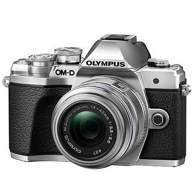 View Details Olympus OM-D E-M10 Mark III Mirrorless Camera With 14-42mm R Lens Silver • 379.99£