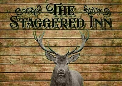 £7.99 • Buy Metal Wall Stag Staggered Pub Beer Sign Alcohol Bar Advert Garden Shed Whisky