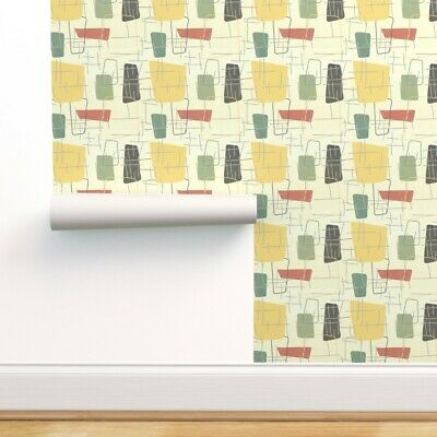 £73.20 • Buy Peel-and-Stick Removable Wallpaper 1950S Fifties 50S Retro Jumbo Sketch Mid