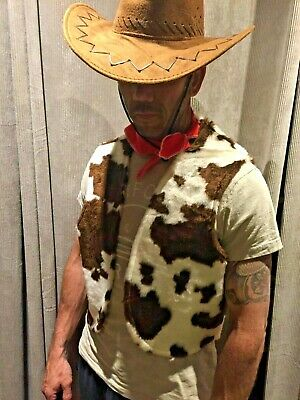 £14.99 • Buy Toy Story Style Brown And Cream Waistcoat Cowboy Cowgirl FREE Neckerchief