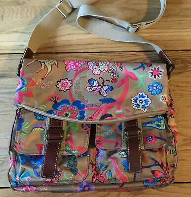 £33.95 • Buy Oilily Blue Multi Coloured Print Tote Bag Shoulder Strap Stunning Butterfly Good