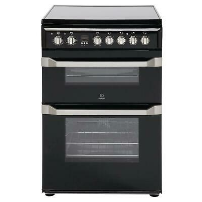£444.99 • Buy Indesit ID60C2KS Double Electric Cooker With Ceramic Hob – Black