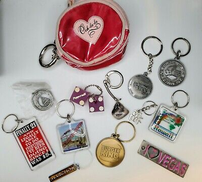 $7.99 • Buy Vintage Keychain Lot - Dice, Burger King, Vegas And More