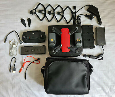 AU700 • Buy DJI Spark (RED) Drone Fly More Combo 1080p - With Extras - Great Condition