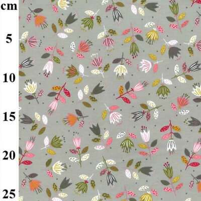 £6.95 • Buy French Terry Floral Organic Cotton Jersey Knit T-shirt, Dressmaking Fabric. By T