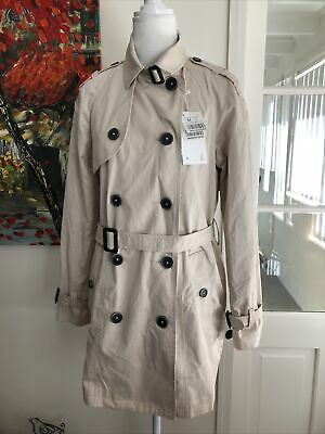 AU39 • Buy Bershka Women's Classic Trench Coat Tan/Taupe Double Breasted Belted Trench Coat