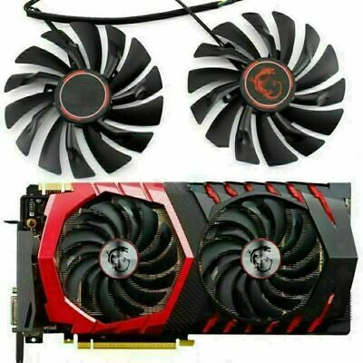 £14.17 • Buy 2X Cooler Cooling Fan For MSI GTX1080 1070 1060 RX470 480 570 580 GAME Card MSS