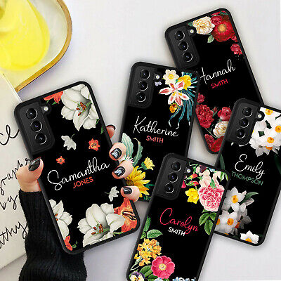 £5.98 • Buy PERSONALISED SIGNATURE NAME FLOWERS Phone Hard Case Cover For Samsung S20 S21 FE