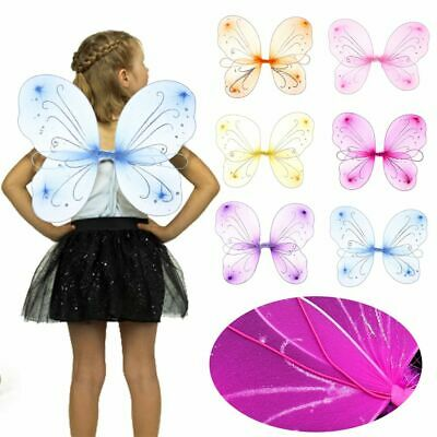 £2.79 • Buy DIY Dressing Up Decorations Costume Fairy Wing Fancy Dress Glitter Butterfly