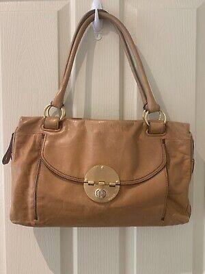 AU45 • Buy Mimco Turnlock Worker Tote - Honey Leather