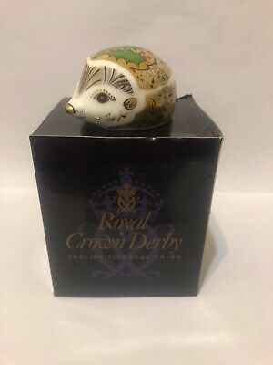 £49.99 • Buy Royal Crown Derby Holly Hedgehog Limited Edition - Gold Stopper - Original Box