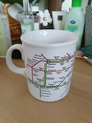 £9.99 • Buy Vintage Rare London Underground Map Mug/Cup From 1985, Made In England, VGC