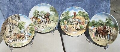 £4 • Buy Decorative Wedgwood Plates * 4 From The  Life On The Farm  Series Plates 1-4