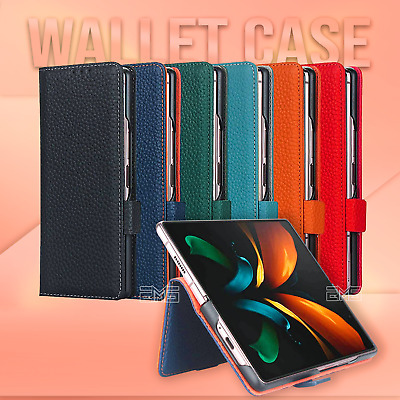 AU19.99 • Buy For Samsung Galaxy Z Fold2 5G Wallet Leather Flip Card Slots Stand Case Cover